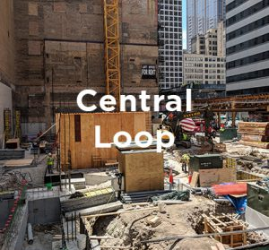 Office building under construction in Chicago's Central Loop