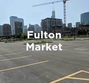 Proposed office development site in Chicago's Fulton Market