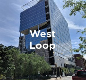 Recently completed office building in Chicago's West Loop